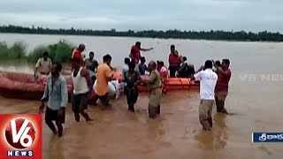 NDRF Rescues 55 People Trapped In Flood Water In Srikakulam District