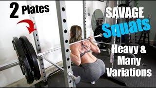 Carb Bowl & Savage Squats Heavy + Different Variations Season 2 vlog 76