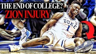 There is ZERO reason for Zion Williamson to return to duke after his SCARY INJURY?