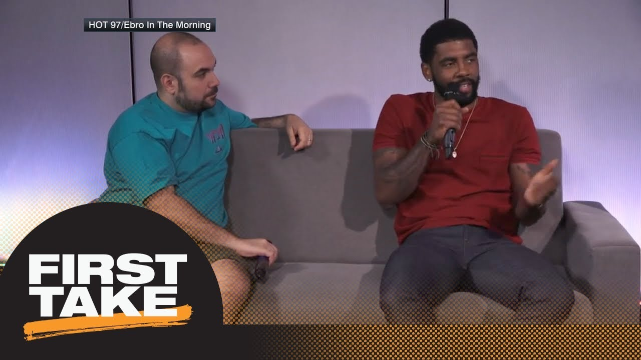 What did Kyrie Irving mean with his James Harden vs. LeBron James MVP comments?   First Take   ESPN