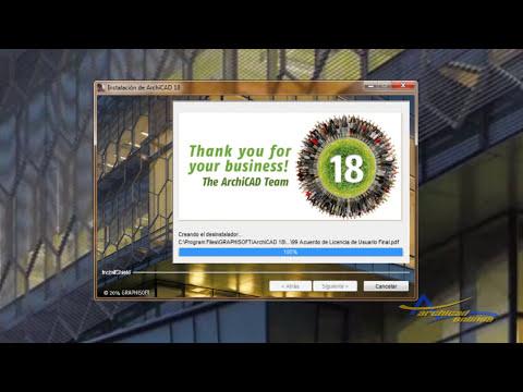Descarga e instalación Archicad 18 Archicad en linea: Lección 1.0