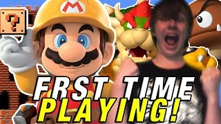 MY FIRST LEVEL EVER MADE! || Super Mario Maker WORLDS!
