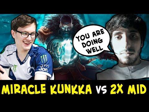 Miracle Kunkka vs DOUBLE mid — ez COUNTER