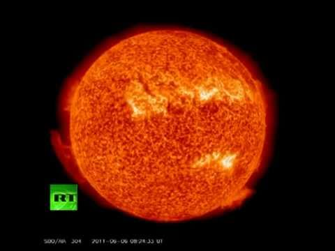 0 NASA films incredible solar flare: Video of unique sun explosion