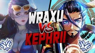 WRAXU BEST HANZO VS KEPHRII INSANE WIDOW! WHO'S BEST? [ OVERWATCH SEASON 9 TOP 500 ]