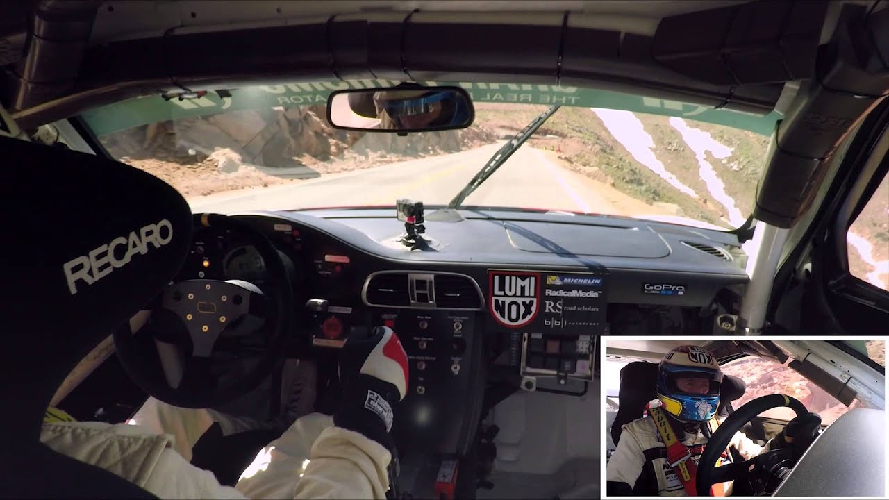 Jeff Zwart drives his Porsche 911 GT3 Turbo Cup prepared by BBI Autosport to 1st place in Time Attack 1 Class at the 2015 Pikes Peak International Hill Climb...