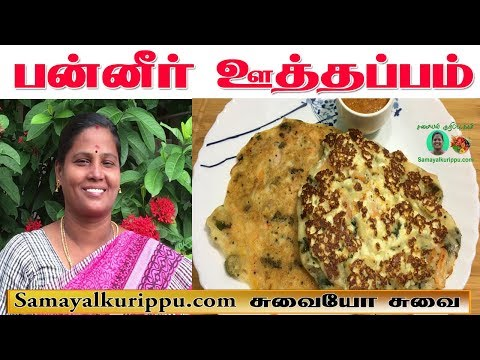 Paneer Uttapam Recipe in Tamil | பன்னீர் ஊத்தப்பம் | Paneer dosai | Samayal kurippu | Suvaiyo Suvai|
