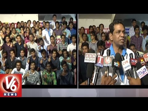 Karimnagar Alphores College Students Secures Top Rank In IIT JEE Mains Results 2018 | V6 News