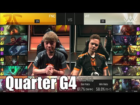 Vitality vs Fnatic | Game 4 Quarter Finals S6 EU LCS Spring 2016 Playoffs | VIT vs FNC G4 1080p