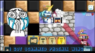 Growtopia - Almost Got my Phoenix Wings SCAMMED!