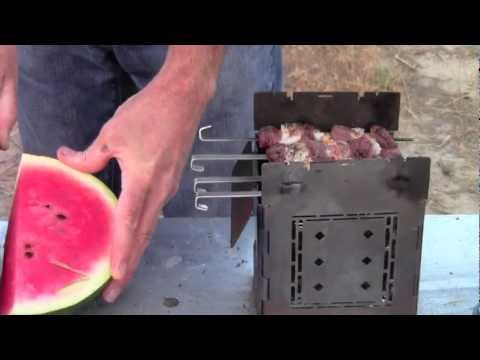 Outdoor Cooking Surf & Turf on the Folding Firebox camping stove