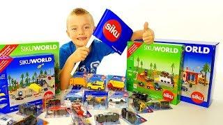 SIKU WORLD Cars four kids, Machinine per Bambini, Grande scatola piena di giochi - Regalo Super Alex