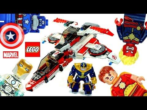 LEGO® Avengers Marvel Super Heroes 76049 Avenjet Space Mission Speed Build w/ Iron Man v Thanos