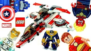 LEGO® Avengers Marvel Super Heroes 76049 Avenjet Space Mission Speed Build w/ Iron Man v Thanos