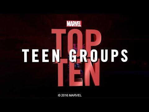 Marvel Top 10 Teen Groups