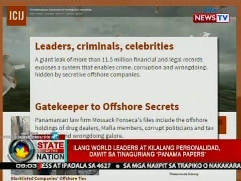 """SONA: Ilang world leaders at kilalang personalidad, dawit sa tinaguriang """"Panama Papers"""""""