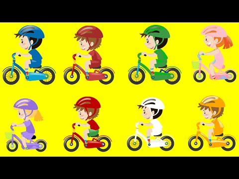 LEARN COLORS WITH BIKE! Fun Animation for Children and Babies Educational Learning Video