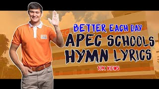 Happy 5th aniversary to Apecschools! APEC song lyrics!