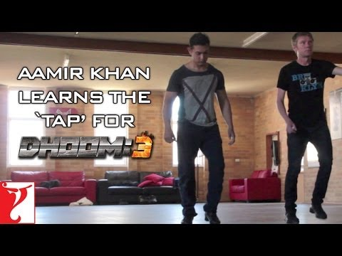 Aamir Khan Learns The TAP For - DHOOM:3