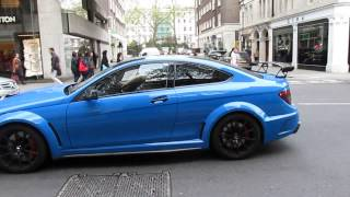 IPE Exhaust Mercedes C63 AMG Black series Loud start ups and accelerations