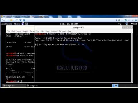 How to hack a wireless router with Kali Linux using Reaver and Wash commands, WPA WP2