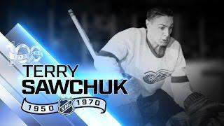 Terry Sawchuk was four-time Vezina-winning goalie