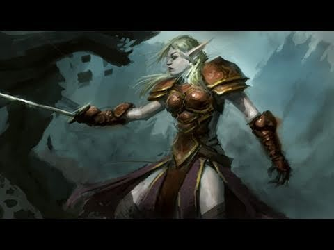 WarCraft Blood Elf Speedpainting tutorial
