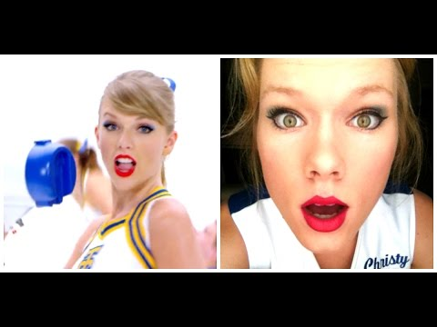 shake it off by taylor swift makeup cheerleader