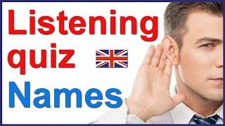 English listening and spelling quiz - People