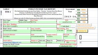 1 (Filing Tax Returns Online) How to file income tax return online in india ?(Hindi)