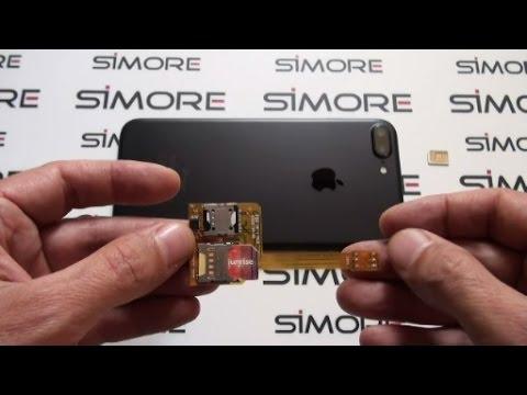 iPhone 7 Plus Triple SIM adapter case 4G for iPhone 7 Plus - SIMore X-Triple 7 Plus