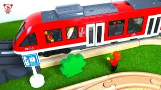 Tram for kids and wooden brio trains for kids - railway for kids