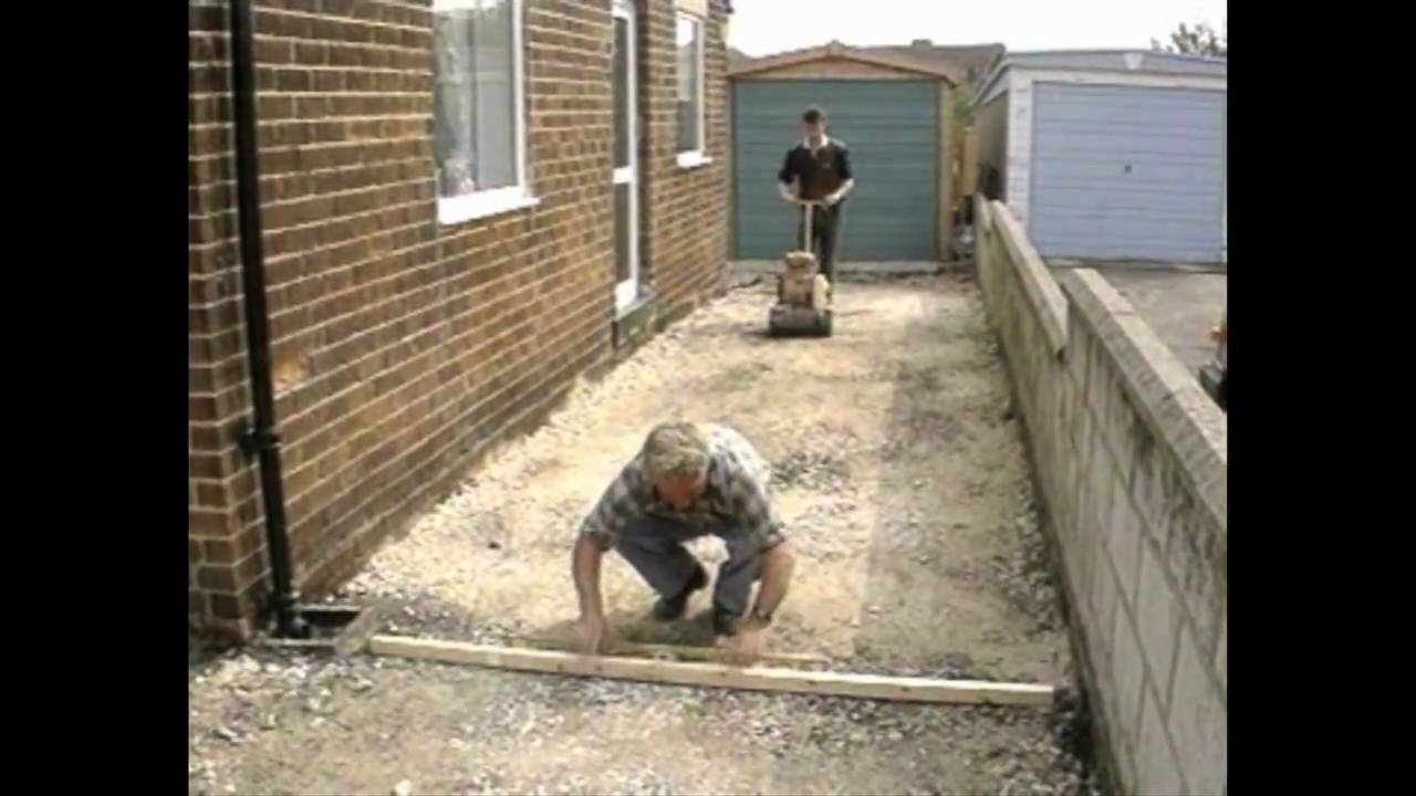 How To Lay A Block Paving Driveway Youtube