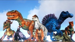 ALL CARNIVORE BATTLE ROYALE (Free For All) | ARK: Survival Evolved | Cantex