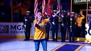 Download Lagu Carrie Underwood sings anthem before the start of Game 2 Gratis STAFABAND