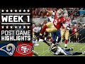 Rams vs. 49ers (Week 1) | Post Game Highlights | NFL