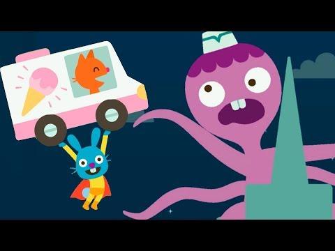 Мультики для детей про малышей Саго мини. Супергерой Джек спасает город.
