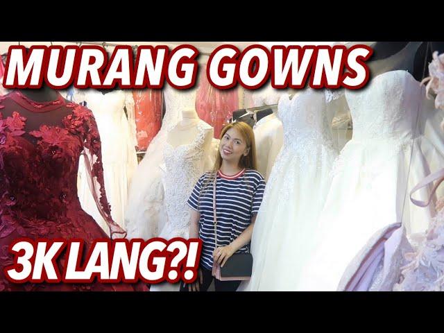 MURANG WEDDING GOWNS SA DIVISORIA! 3K LANG?! GRABE ANG GANDA!   VLOG#40 Candy Inoue ❤️