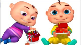 Five Little Babies Playing With Dough (Build House) | Videogyan 3D Rhymes | Original Learning Songs