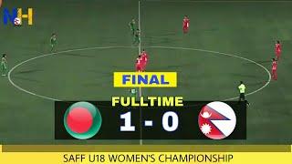 HIGHLIGHTS: Nepal vs Bangladesh (0-1) • SAFF U18 Women's Championship 2018