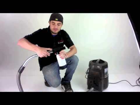 How to use the hand held upholstery shampooer sprayer for E2 E series Rainbow Vacuum Cleaners