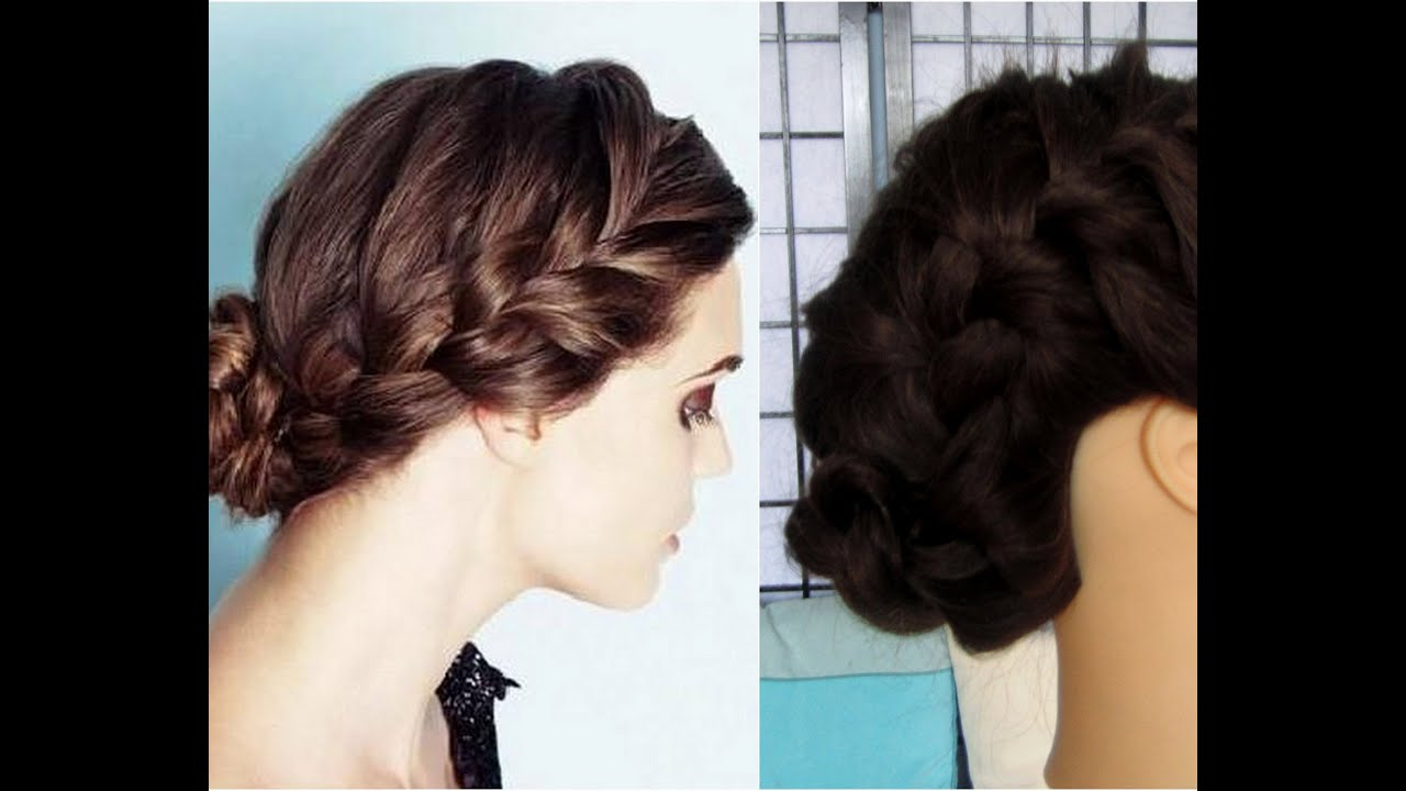 How To Quick Everday Low Braided Bun Youtube