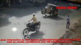 BARQ NEWS..ONE DEAD IN ROAD ACCIDENT AT SHAMSHEERGUNJ WATCH CCTV FOOTAGE OF ROAD ACCIDENT