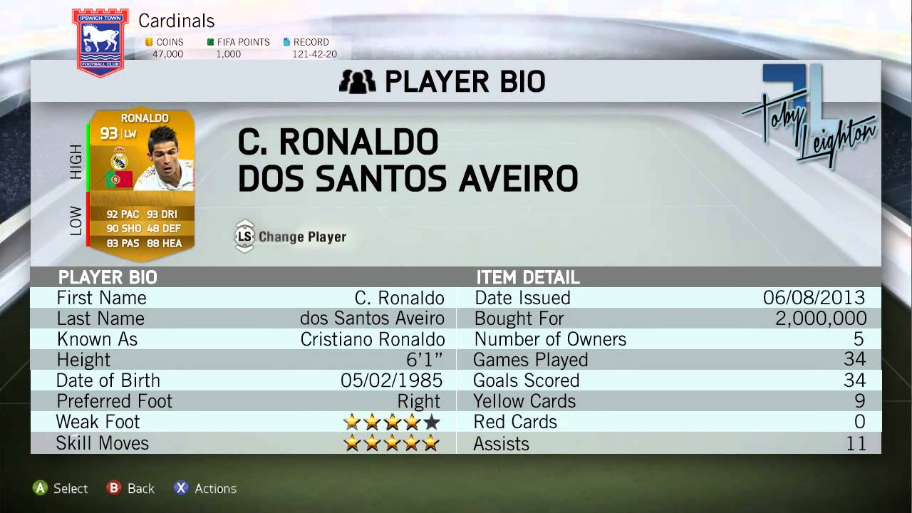 Ronaldo Player Stats Player Stats Cards ft