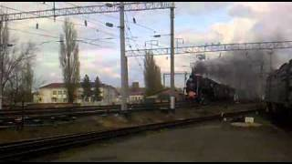 Паровоз Сальск 1-ое Мая.   Locomotive.
