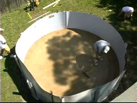 Do-It-Yourself Round Above Ground Swimming Pool Installation - 2 of 2