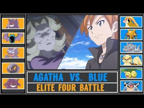 Blue vs. Agatha (Pokémon Ultra Sun/Moon) - Indigo Plateau - Pokémon Origins/Generations