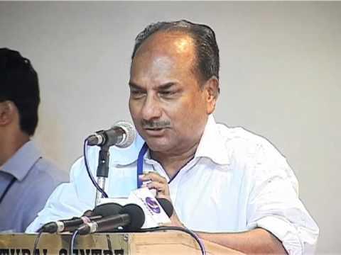 A K Antony's Speech at KMCC, Delhi - Part 1