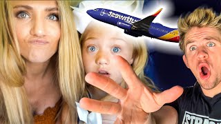 We got separated on our first ever family plane flight...