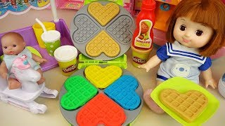 baby doll and play doh cooking Baby Doli play